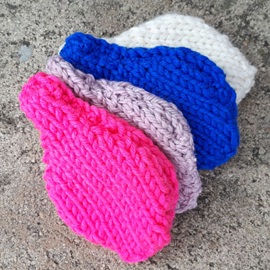 Reusable water balloons free pattern at The Road to Knitting